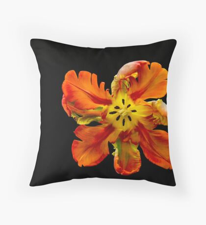 Parrot Tulip Throw Pillow
