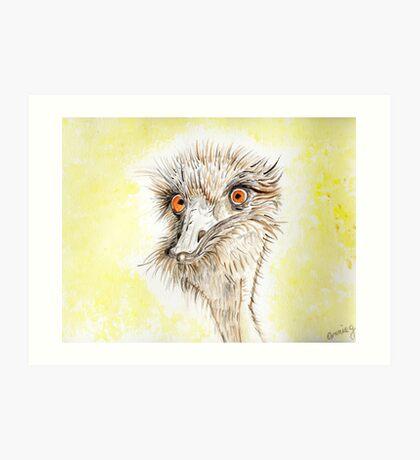 Silly EMU Art Print
