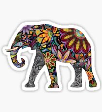 Colourful Elephant Art Sticker