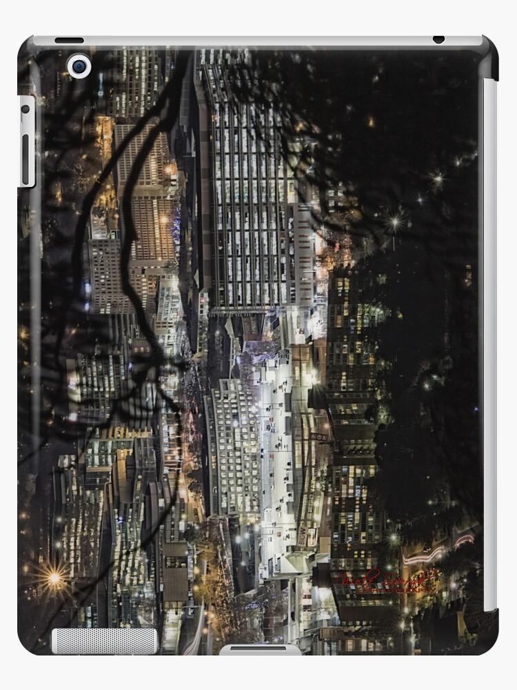 Canberra CBD at night - iPad case by Wolf Sverak