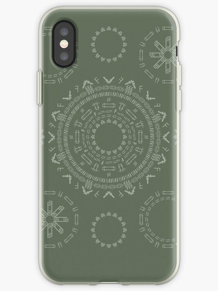 Monogram Pattern (F) in Deep Lichen by janna barrett