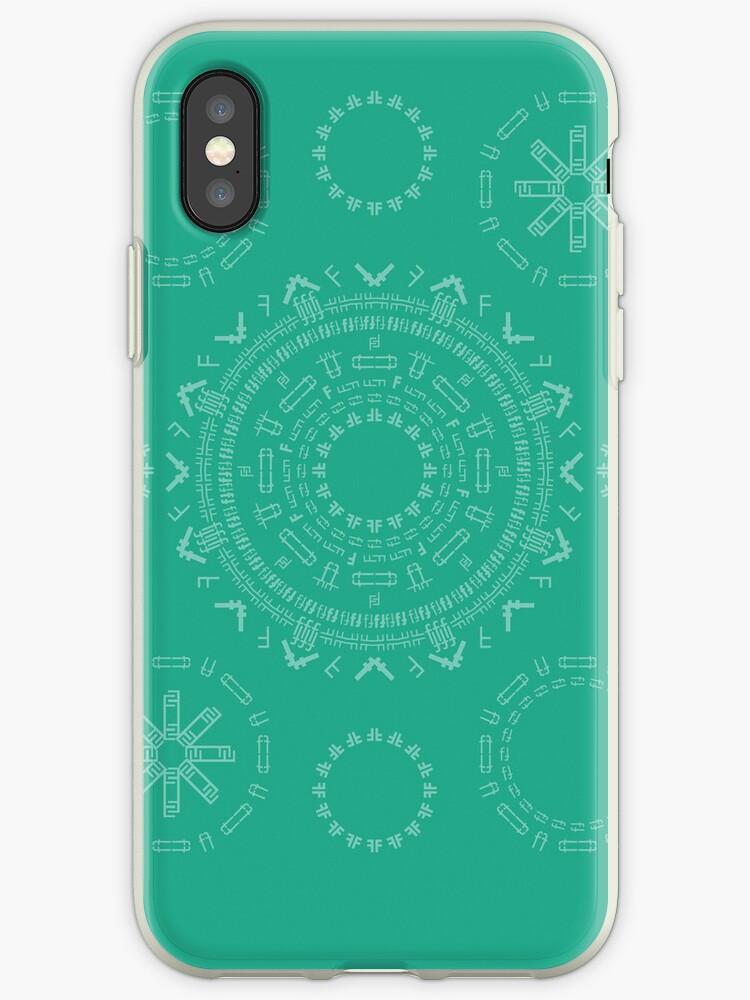 Monogram Pattern (F) in Emerald by janna barrett