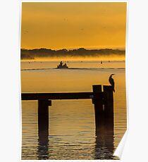 into the sunrise - Mannum SA Poster