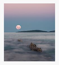 Moon over Montague Photographic Print