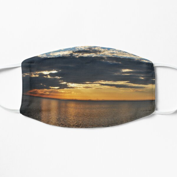 sunset morton bay, glasshouse mountains in background july 2019 Mask