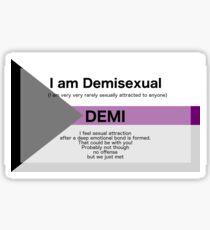 Demisexual Sticker