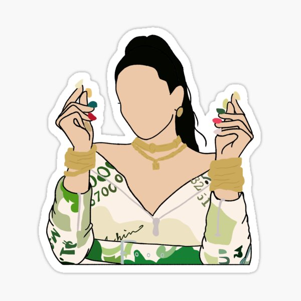Rosalía Milionària esbozo Pegatina