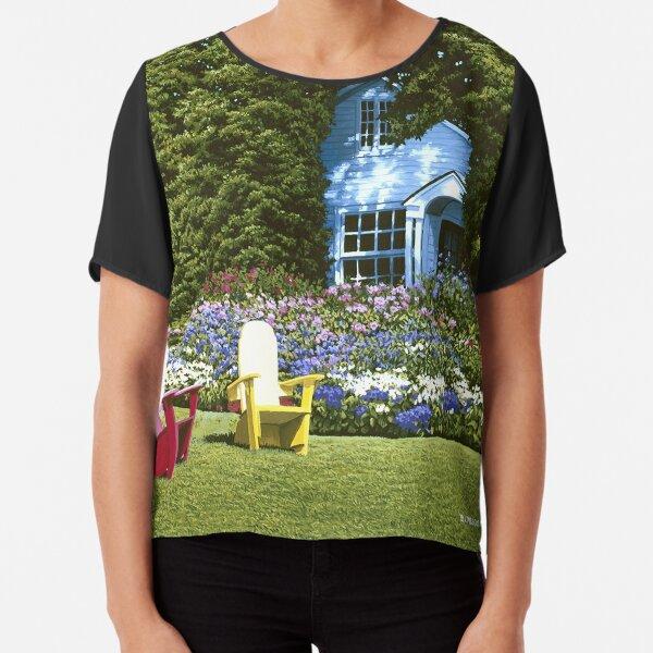 Cottage Garden Basin Harbor Chiffon Top