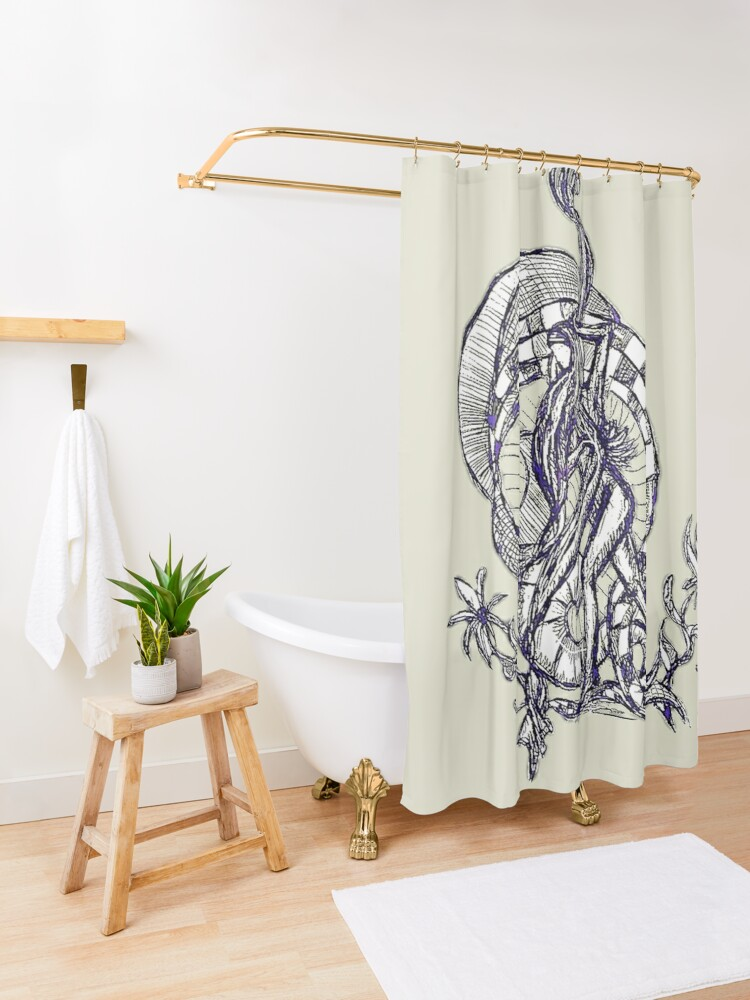 Alternate view of LittleTScribble#13 Shower Curtain