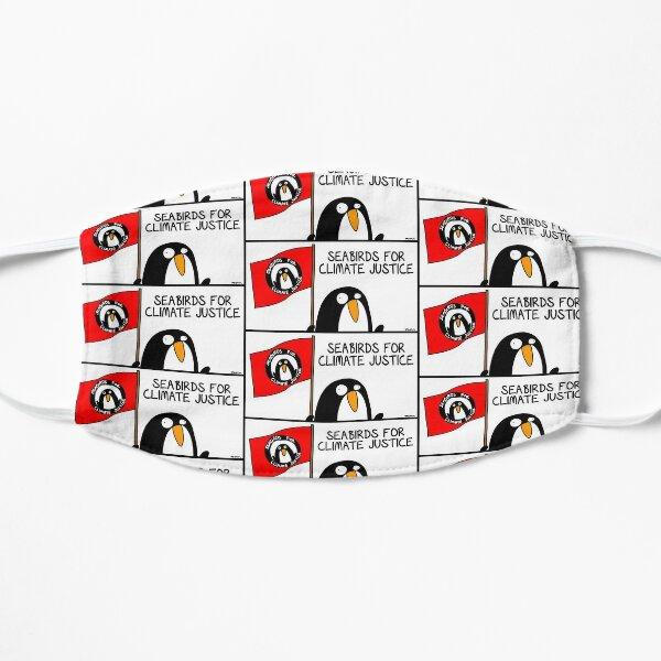 Seevögel für Klimagerechtigkeit Flache Maske