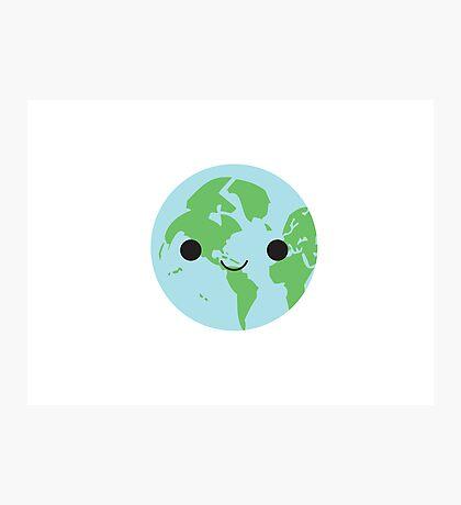 Happy Earth Photographic Print