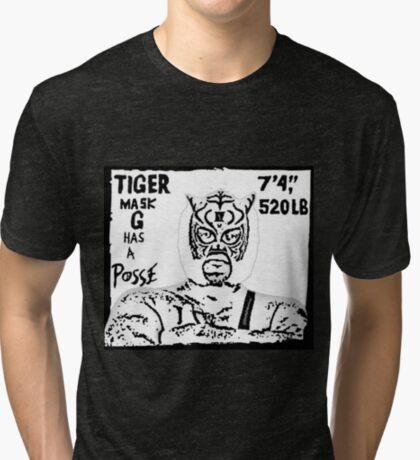 Tiger Mask G Has A Posse Tri-blend T-Shirt