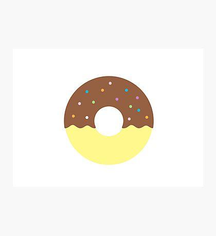 Chocolate Half Dip Donut Photographic Print