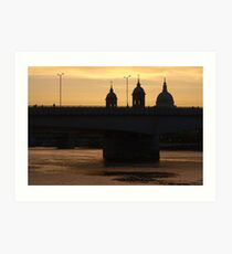 dettman,robert,robert dettman,St Pauls Cathedral, London Art Print