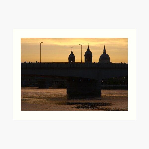 dettman,robert,robert dettman,St Pauls Cathedral, London Art Print