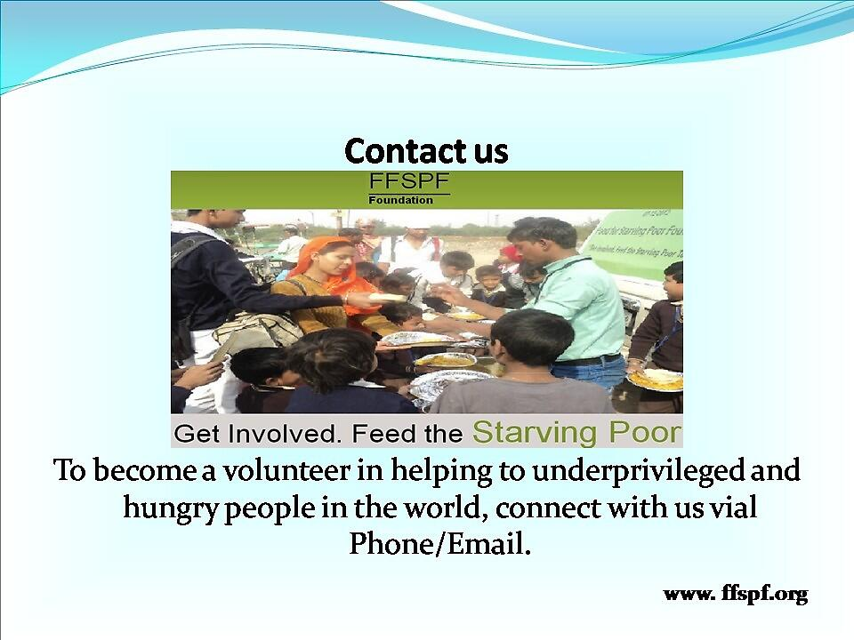 Log on to FFSPF to feed Hungry People.  by FFSPF