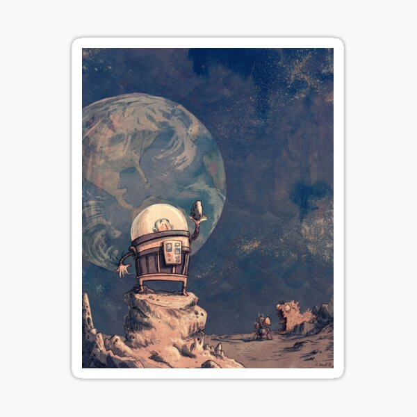Look From Moon Sticker