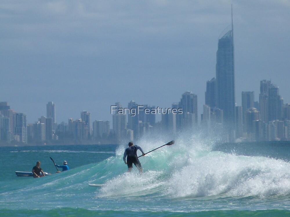 Paddle Boarder at Surfers Paradise by FangFeatures