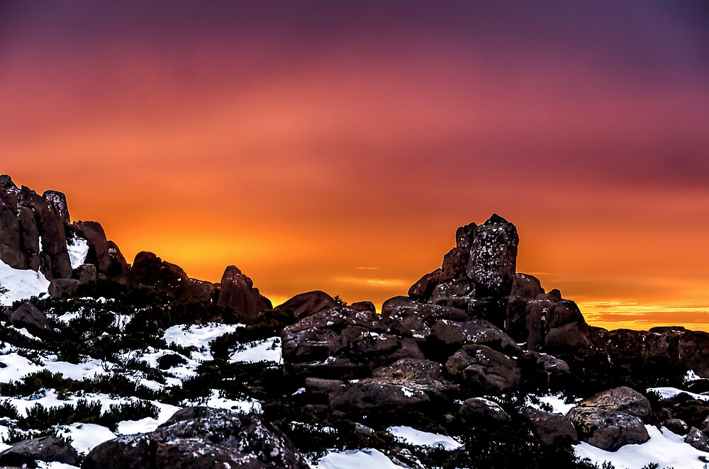 Sunset over Mnt Wellington  by Robert-Todd