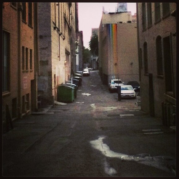 Rainbow alley in downtown Sacramento by Bwill916
