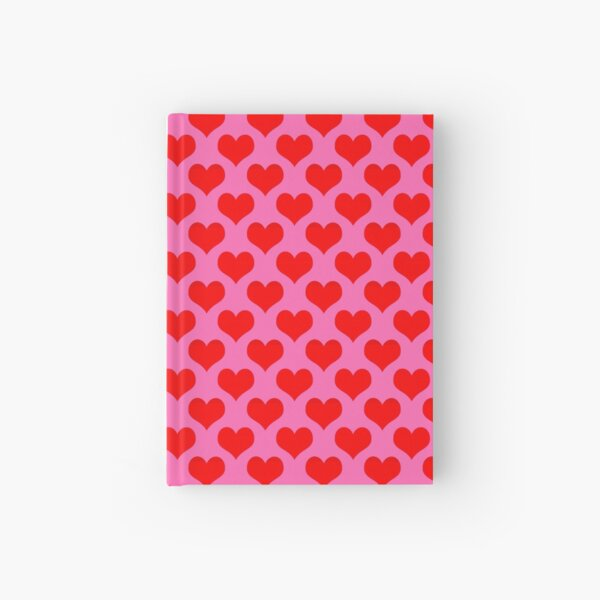 Heart Repeating Pattern (Hot Pink background) Hardcover Journal