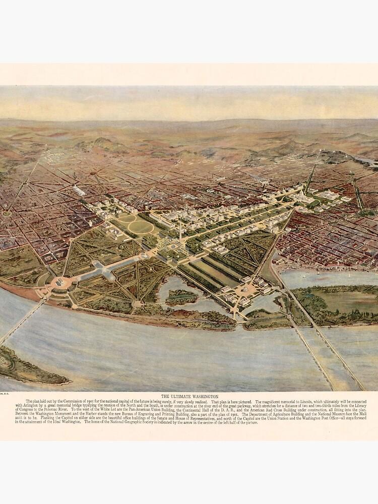 Vintage Map of Washington DC (1915) by BravuraMedia