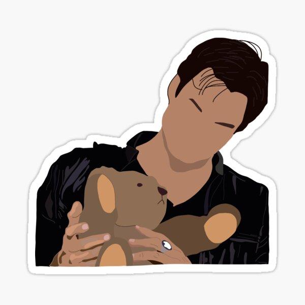 Damon Salvatore and Miss Cuddles Sticker