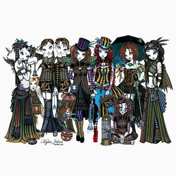 A Fairy Steampunk Circus by MykaJFairies