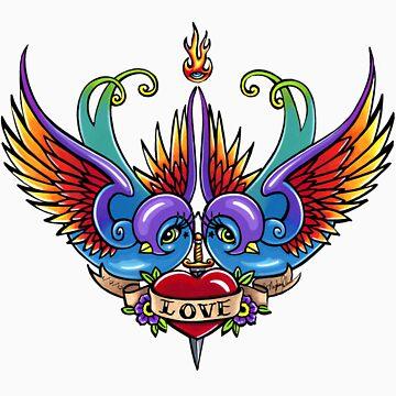 Eternal Love Swallow Tattoo by MykaJFairies