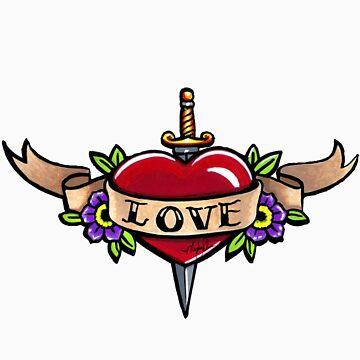 Love Banner Tattoo by MykaJFairies