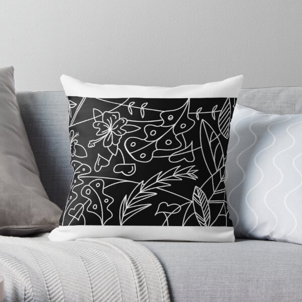 Melbourne tropic Throw Pillow