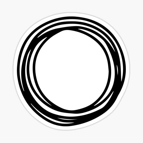 Nichts als Diebe kreisen Logo Sticker
