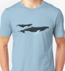 Humpback Whales - Nile and Teacup Slim Fit T-Shirt