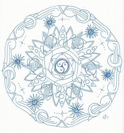 Nature's Way Mandala by Daniel ML