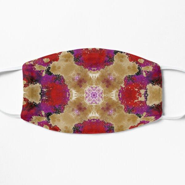 Tela de Algodón Batik rosa//rojo con patrón circular Grasa Q o por metros.
