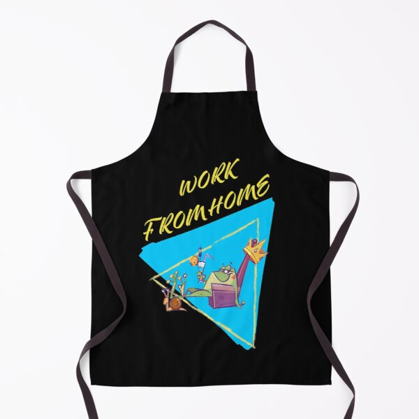 WORK FROM HOME LAZY funny QUOTE for all the lazy guys out there for lazy day Apron