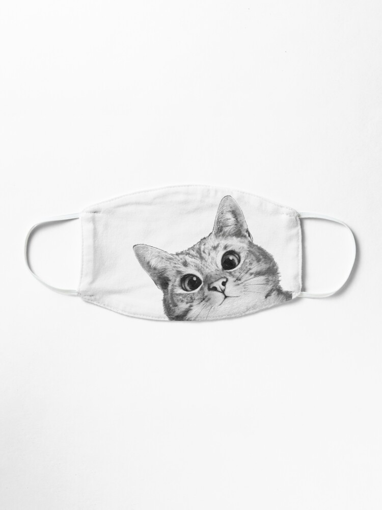 Alternate view of sneaky cat Mask