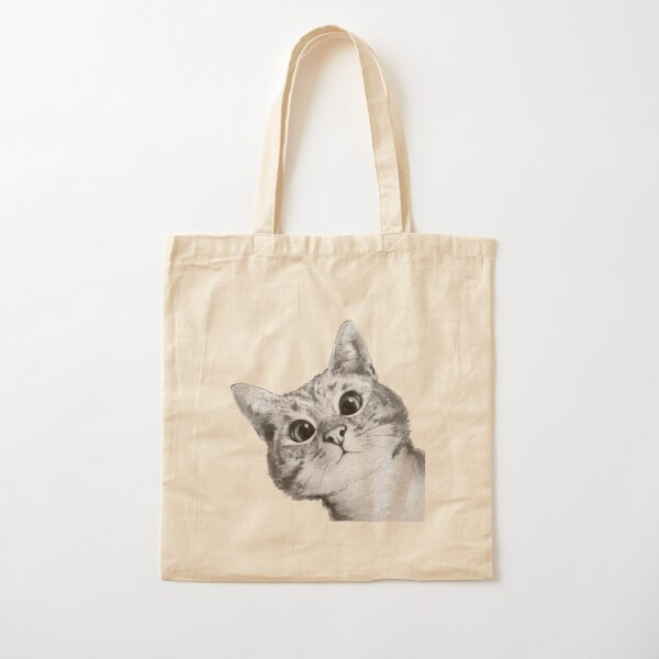 sneaky cat Cotton Tote Bag