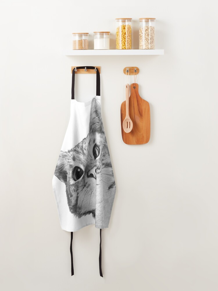 Alternate view of sneaky cat Apron