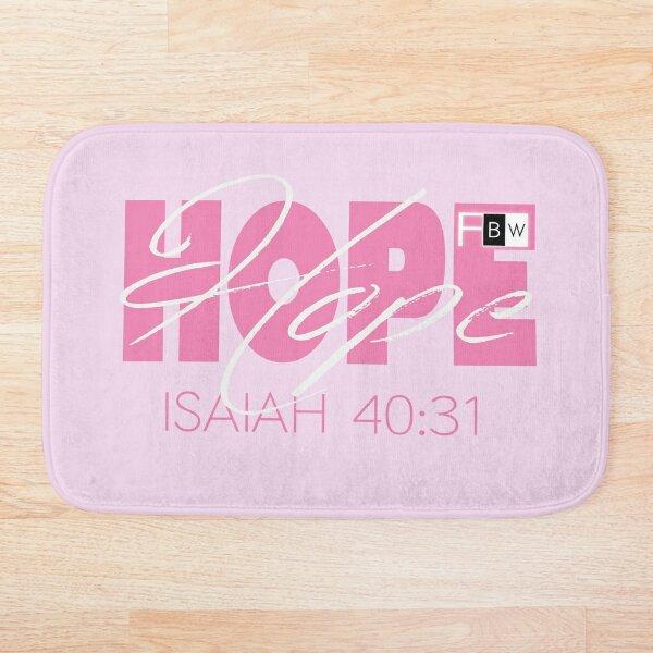 Hope Isaish 40:31 Bath Mat
