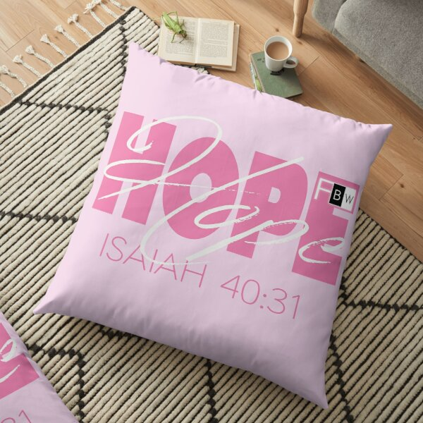 Hope Isaish 40:31 Floor Pillow