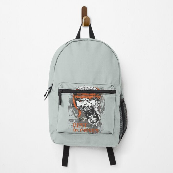 Rest in pieces - Funny zombie lover Gift Backpack