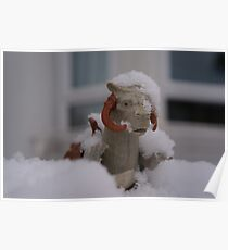 Tauntaun in snow Poster