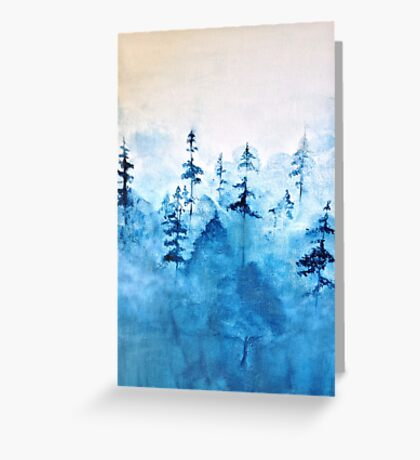 Blue Woods Greeting Card