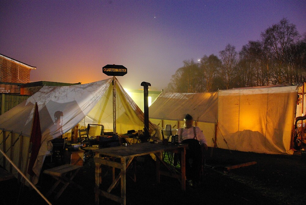 A re-enactor's Camp by Kevin Cartwright