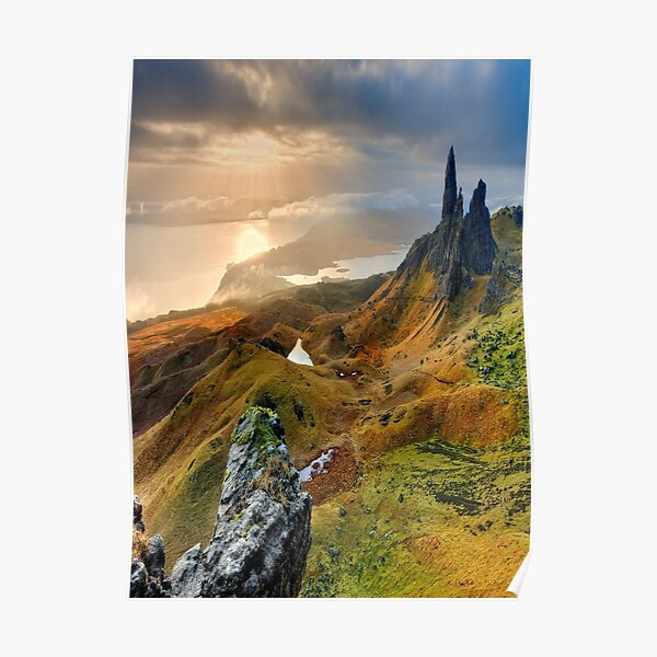 Old Man Of Storr Isle of Skye Scotland Poster