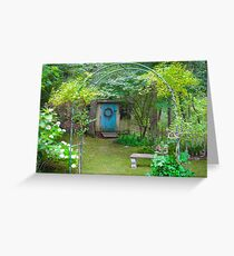 A Fairy Tale Garden on Cape Cod Greeting Card