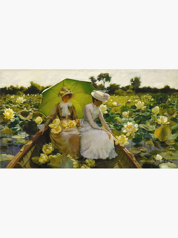Charles Courtney Curran - Lotus Lilies by artcenter