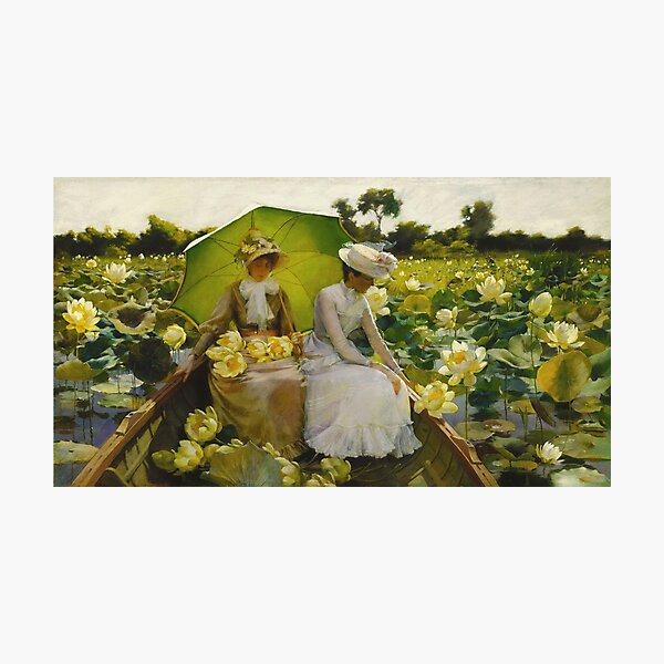 Charles Courtney Curran - Lotus Lilies Photographic Print