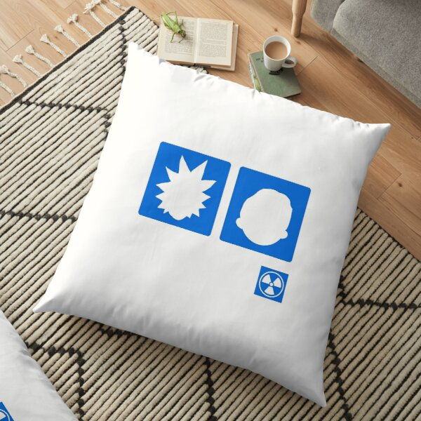 Rick and morty silhouette  Floor Pillow